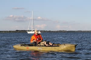 Hobie Mirage with man fishing