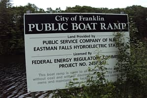 Public Boat Ramp Franklin Dam Sign
