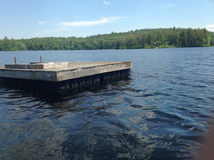 The floating dock middle view