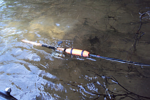 My rod got knocked into the water, but then floated!
