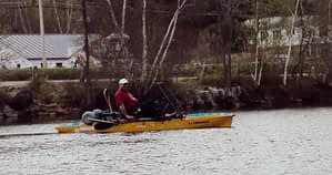 Chad in his Hobie Kayak