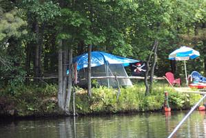 Campsite on Dam