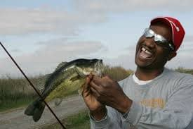 Bass Fisherman with bass