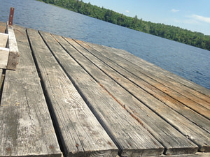 The floating dock close up view