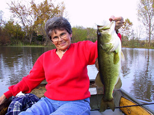 Woman with Large Bass