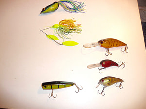 Summertime lures for bass