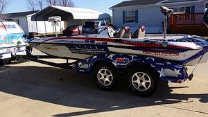 fancy boat 4 wheel trailer