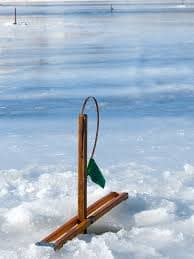 "Ice fishing ""tip up"""